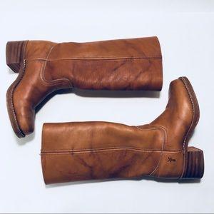 Frye 'Campus' Saddle Leather Riding Boot size 6